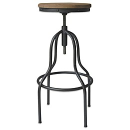Moe's Home Collection Hanna Bar Stool in Black/Natural