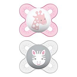 MAM Start Size Newborn to 2 Months Pacifier in Pink/Purple (2-Pack)