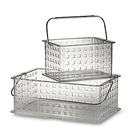InterDesign® Zia Clear Small Clear Storage Basket Shower Tote