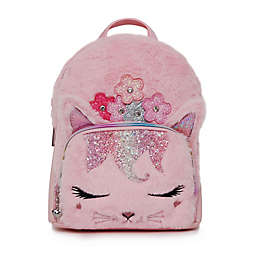OMG Accessories Bella the Kitty with Flower Crown Plush Mini Backpack in Pink