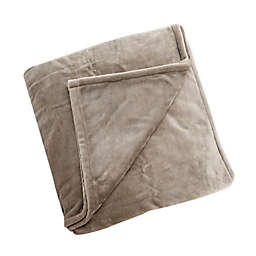 Brookstone® n-a-p® Plush Heated Twin Blanket in Taupe