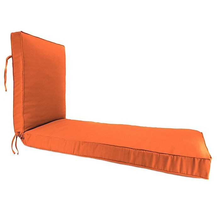 Alternate image 1 for Solid 80-Inch Boxed Edge Chaise Lounge Cushion in Sunbrella® Canvas Tuscan