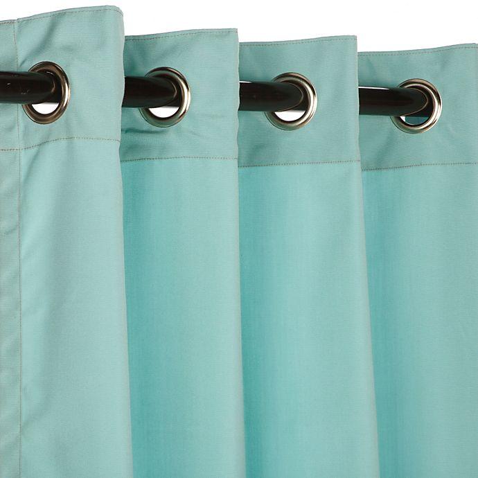 Alternate image 1 for Pawleys Island® Sunbrella® 96-Inch Grommet Top Outdoor Window Curtain Panel in Glacier