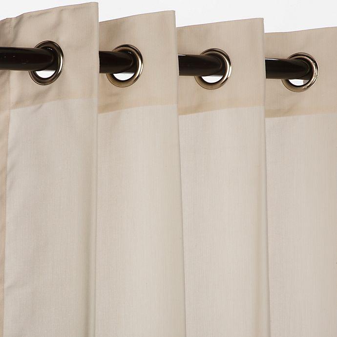Alternate image 1 for Pawleys Island® Sunbrella® 96-Inch Grommet Top Outdoor Window Curtain Panel in Beige
