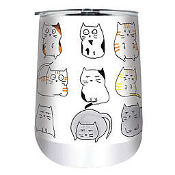 Indigo Falls® Cats Moodi 18 oz. Stainless Steel Tumbler with Lid
