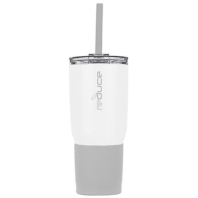 Alternate image 1 for Reduce® 3-in-1 24 oz. Stainless Steel Tumbler in White