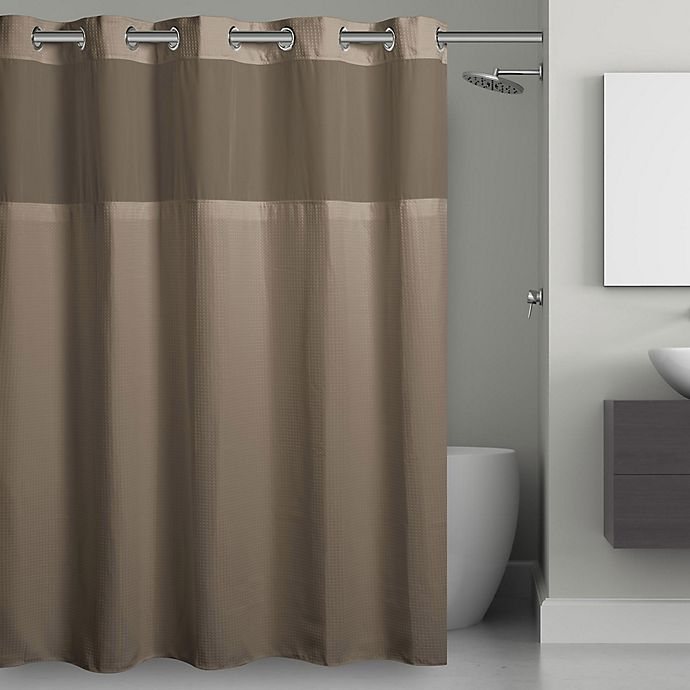 Hookless Waffle Fabric Shower Curtain Bed Bath Beyond