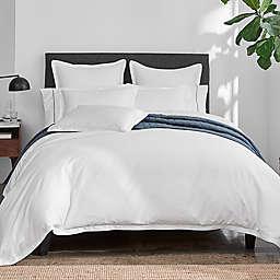 Under the Canopy® Italian Hem Stitch Organic Cotton 3-Piece Full/Queen Duvet Cover Set in White