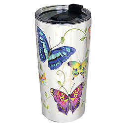 Butterflies 24 oz. Stainless Steel Tumbler with Lid