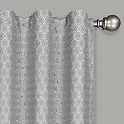 Eclipse Nora Crochet Rod Pocket 100% Blackout Window Curtain Panel