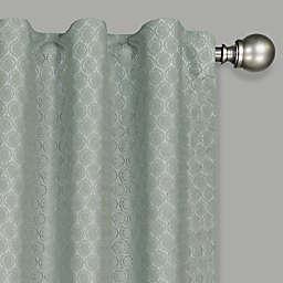 Eclipse Nora Crochet 108-Inch Rod Pocket 100% Blackout Window Curtain Panel in Sage (Single)