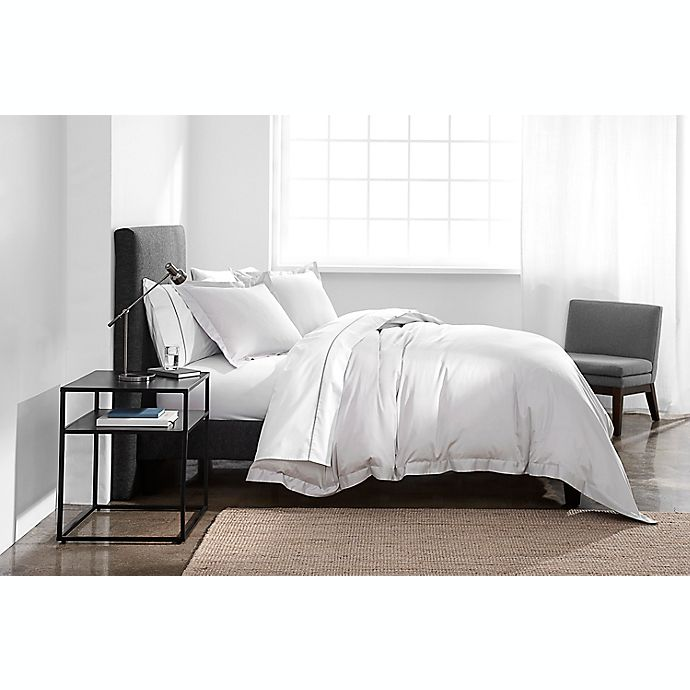 Alternate image 1 for Under the Canopy® Solid Organic Cotton 3-Piece Full/Queen Duvet Cover Set in Silver