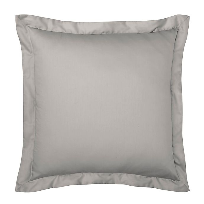 Alternate image 1 for Under the Canopy® Solid Organic Cotton European Pillow Sham in Grey