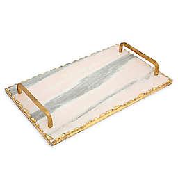 Godinger® Pink Marble 15-Inch Handled Serving Board
