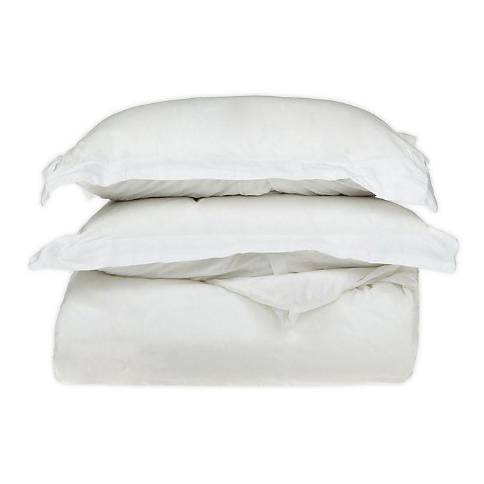 Alternate image 1 for Jasper Haus Freya 3-Piece Egyptian Cotton Full/Queen Duvet Cover Set in White