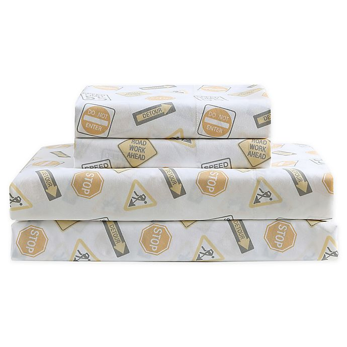 Alternate image 1 for Kute Kids Construction Land Sheet Set