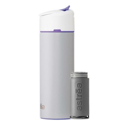 astrea One® 20 oz. Filtered Water Bottle in Grey/Orchid