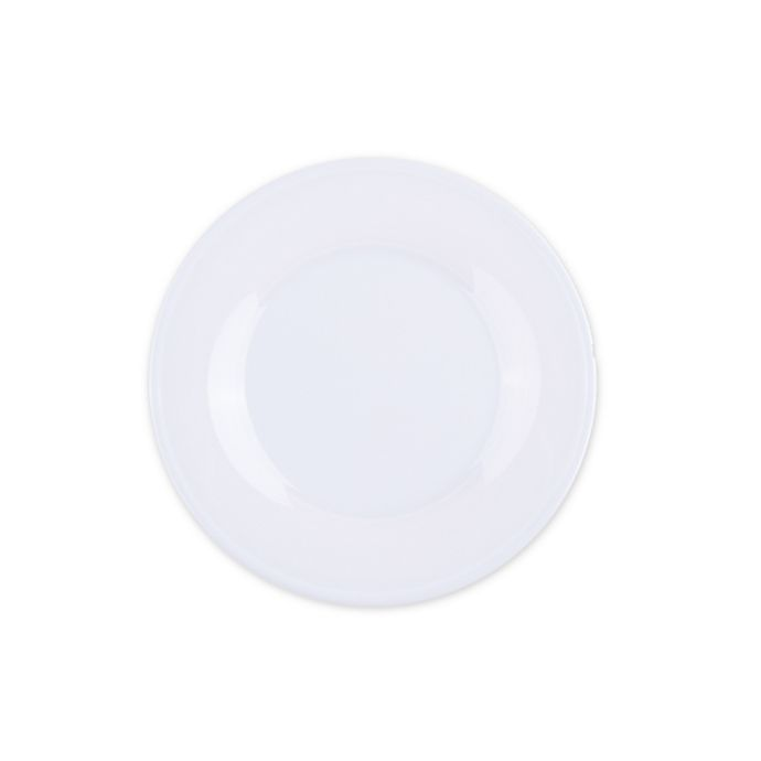 Alternate image 1 for Glazed Melamine Salad Plate in White