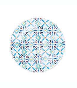 Plato trinche de melamina con diseño de talavera
