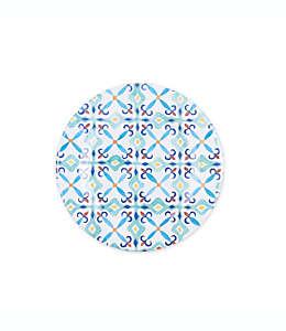 Plato para ensalada de melamina con diseño de talavera