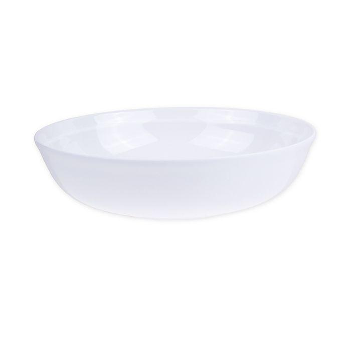 Alternate image 1 for Glazed Melamine Large Bowl in White