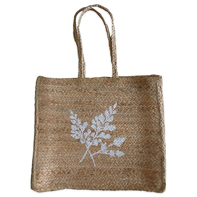 Alternate image 1 for Bee & Willow™ Home Jute Fern Bag in Natural/White