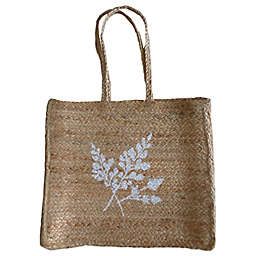 Bee & Willow™ Home Jute Fern Bag in Natural/White