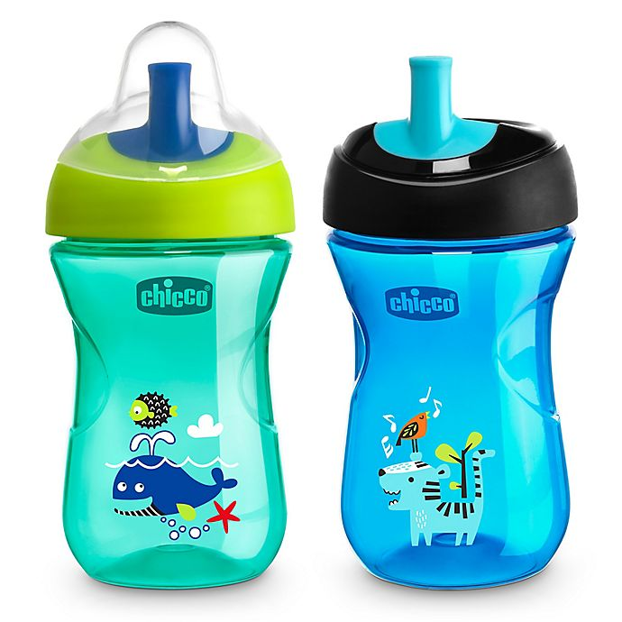Alternate image 1 for Chicco® 2-Pack 9 oz. Sport Spout Trainer Cups