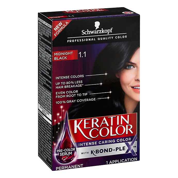 Alternate image 1 for Schwarkopf Keratin Color in Midnight Black 1.1