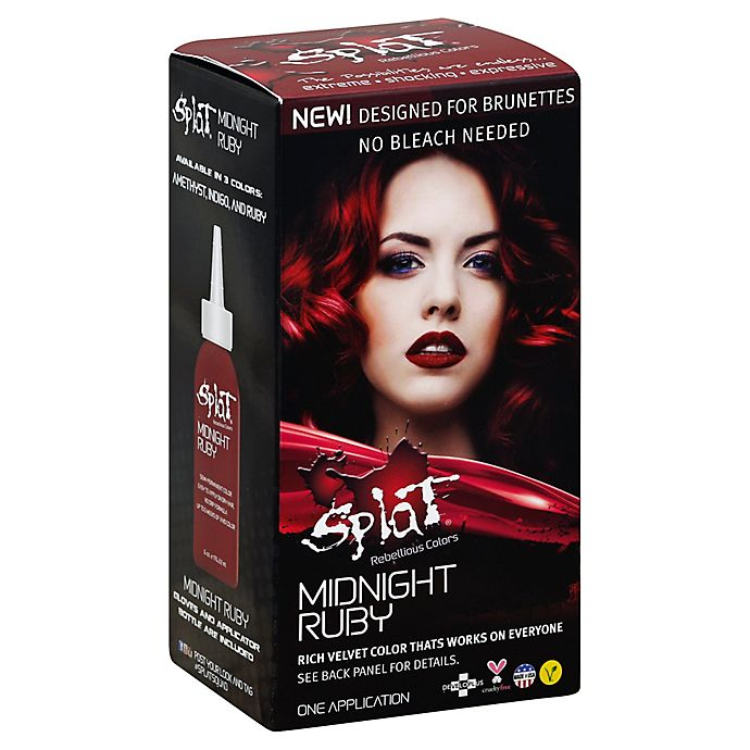 Alternate image 1 for Splat® Rebellious Colors Bleach Free Semi-Permanent Hair Color Kit in Midnight Ruby