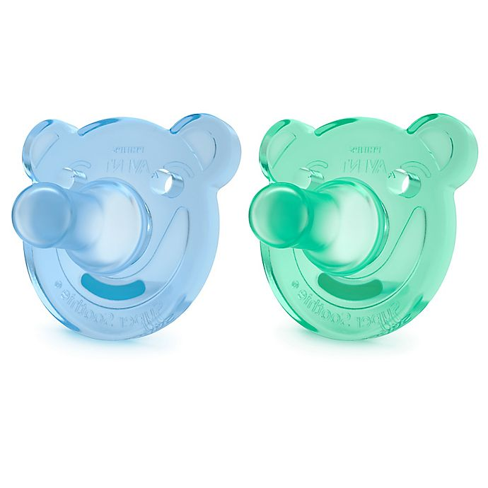 Alternate image 1 for Philips Avent 2-Pack Bear Soothie 3M+ Pacifiers