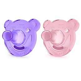 Philips Avent 2-Pack Bear Soothie Pacifiers in Pink/Purple