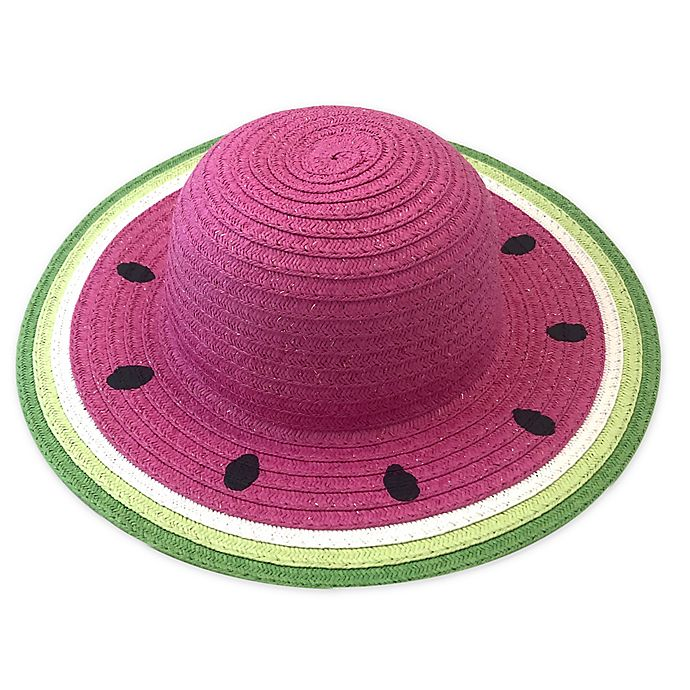 Alternate image 1 for Toby Fairy™ Watermelon Straw Infant Hat