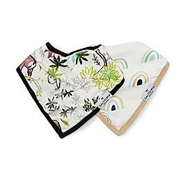 Loulou Lollipop 2-Pack Sloth Bandana Bibs