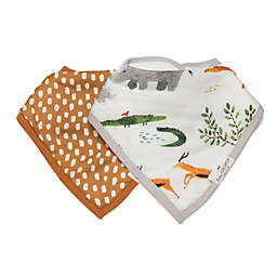Loulou Lollipop 2-Pack Safari Jungle Bandana Bibs