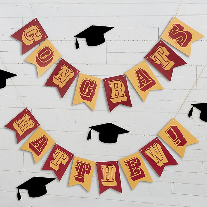 Alternate image 1 for Write Your Own Personalized Graduation Bunting Banner