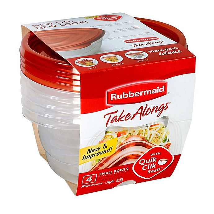 Alternate image 1 for Rubbermaid® TakeAlongs® 4-Count Round Food Containers with Lids