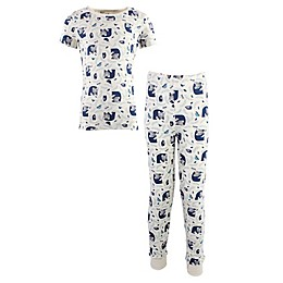 Touched by Nature 2-Piece Wood Organic Cotton Pajama Set in Blue