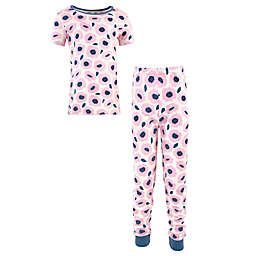Touched by Nature 2-Piece Blossom Organic Cotton Pajama Set in Pink