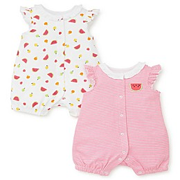 Little Me® 2-Pack Fruit Rompers