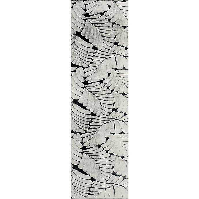 Alternate image 1 for Tala 2' x 7' Powerloomed Faux Fur Runner Rug in Ivory/Grey