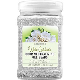 Smells Begone White Gardenia 48 oz. Odor Neutralizing Gel Bead Refill