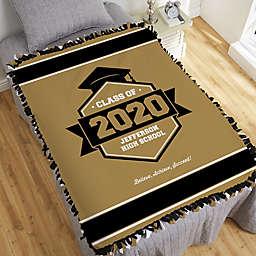 Class Of Personalized Graduation 50-Inch x 60-Inch Tie Blanket