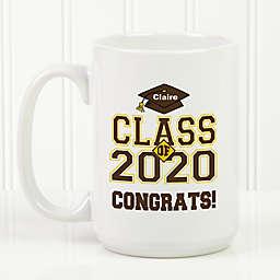 Cheers to the Graduate 15 oz. Coffee Mug in White