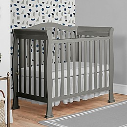 Dream On Me Naples 4-in-1 Convertible Mini Crib in Cool Grey