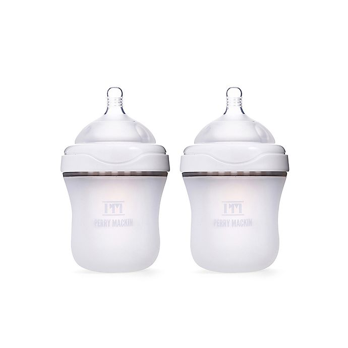 Alternate image 1 for Perry Mackin 2-Pack 6 oz. Silicone Wide-Neck Bottles