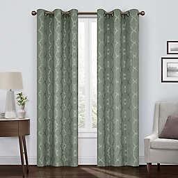 Eclipse Hazel 95-Inch Grommet Room Darkening Window Curtain Panel in Celadon