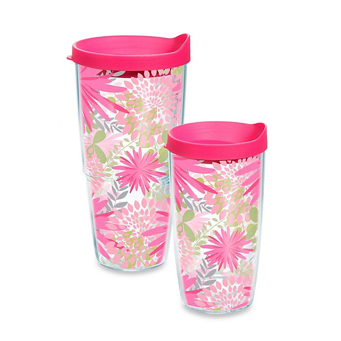Alternate image 1 for Tervis Pink Mums Tumbler with Lid