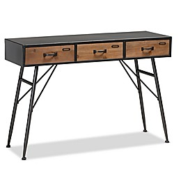 Baxton Studio™ Loyte 3-Drawer Console Table in Black