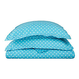 Jasper Haus Kantuta Polka Dot 3-Piece Reversible King/California King Duvet Cover Set in Aqua